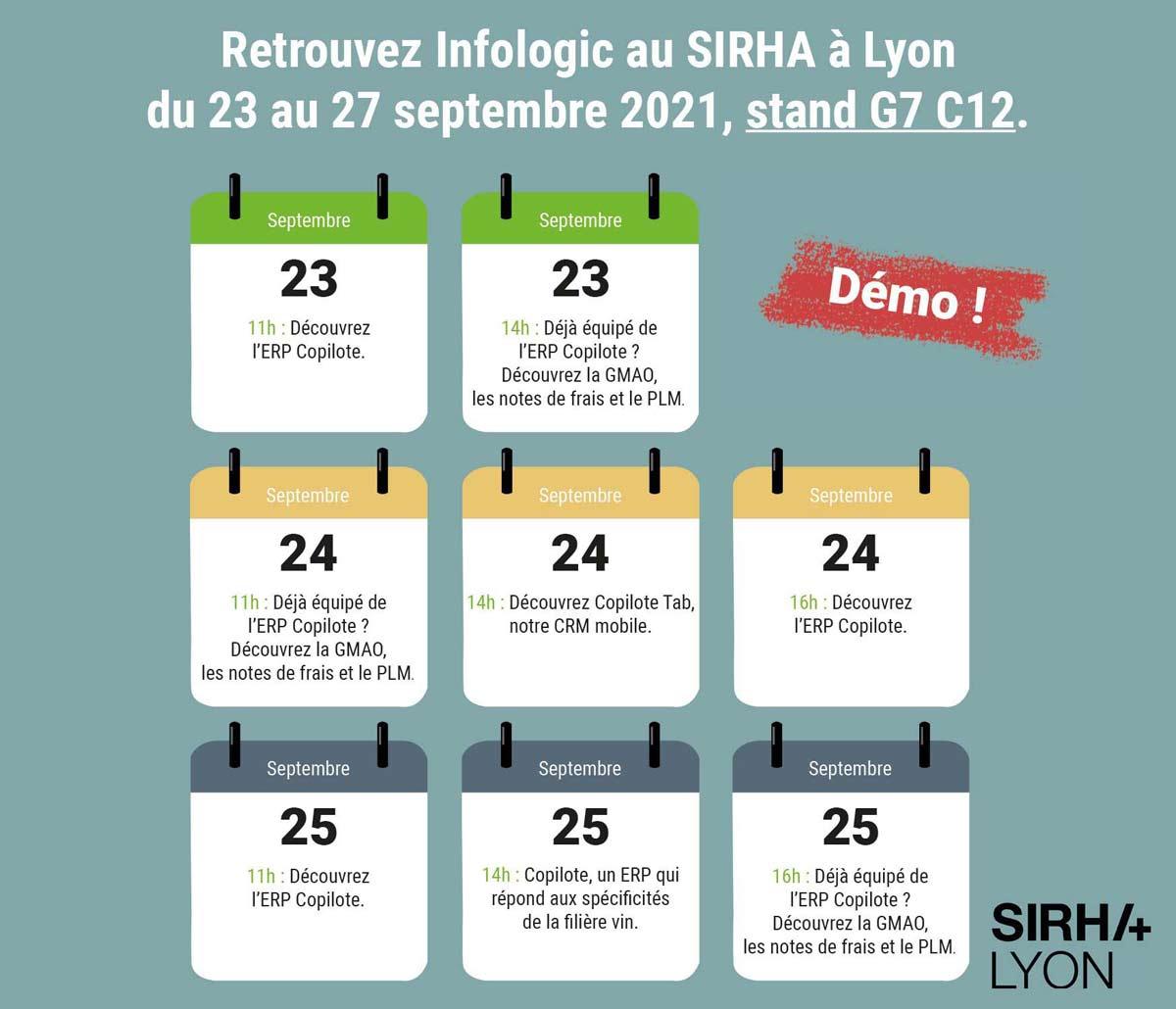 Programme salon SIRHA démonstration Infologic ERP agroalimentaire Copilote.